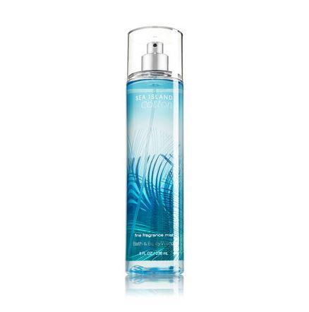 **พร้อมส่ง**Bath & Body Works Sea Island Cotton Fine Fragrance Mist 236 ml. สเปร์ยน้ำหอมที่ให้กลิ่นติดกายตลอดวัน กลิ่นนี้จะมีความหอมสะอาดอ่อนๆ แบ้วๆ ใสๆ คล้ายกลิ่นแป้งเด็กค่ะ ใครได้กลิ่นก็อยากอยู่ใกล้ๆ