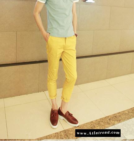 กางเกง กางเกงขายาว กางเกงขายาวชาย กางเกงเข้ารูป สีเขียว สีน้ำเงินคราม สีเหลือง สีดำ ขาเดฟ กางเกงแฟชั่นชาย กางเกงแฟชั่นเกาหลีชาย กางเกงผู้ชาย กางเกงแฟชั่น กางเกงขายาว แฟชั่นเกาหลี