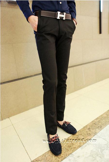 กางเกง กางเกงขายาว กางเกงขายาวชาย กางเกงเข้ารูป สีดำ ขาเดฟ กางเกงแฟชั่นชาย กางเกงแฟชั่นเกาหลีชาย กางเกงผู้ชาย กางเกงแฟชั่น กางเกงขายาว แฟชั่นเกาหลี