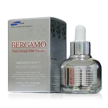 Bergamo The Luxury Skin Science BrighteningEX Whitening Ampoule ช่วยซ่อมแซมผิวหน้าที่ไม่สดใสจากการทำร้ายผิวหน้าหมองคล้ำ ไม่สดใส