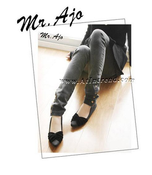 รองเท้า รองเท้าทำงาน รองเท้าผู้หญิง รองเท้าหุ้มส้น สีดำ สีเขียว สีน้ำตาล สีเทา ไซส์ 34 35 36 37 38 39 รองเท้าแฟชั่นผู้หญิง รองเท้าหญิงน่ารักๆ แฟชั่นหญิงเกาหลี