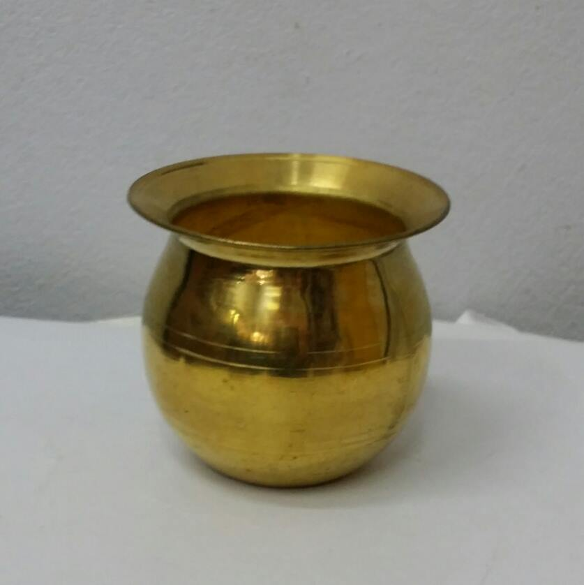 J008 โถน้ำ-นม ทองเหลือง ปากกว้าง 3 นิ้ว Water-Milk Jar