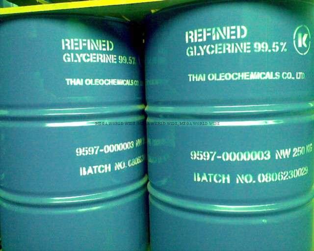 กลีเซอรีน Glycerine สำหรับอุตสาหกรรมยา เครื่องสำอาง อาหาร 1 kg.