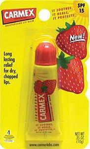 **พร้อมส่ง**Carmex Moisturizer Lip Blam Sunscreen SPF 15 #Strawberry ลิปบาล์มแบบหลอดบีบ เนื้อเจลใสกลิ่นสตอเบอรี่ บำรุงให้ริมฝีปากชุ่มชื้น ไม่แห้งคล้ำ ขาวอมชมพู พร้อมกันแดดด้วยค่า SPF 15