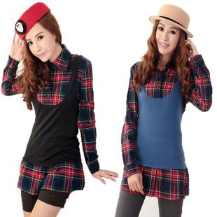 XXL สีฟ้า พร้อมส่ง เสื้อผ้า คนอ้วน  แฟชั่นไซส์ใหญ่ นำเข้า 100% ไซส์ใหญ่ ราคาถูก สไตล์เกาหลี