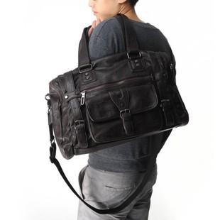 เสื้อผ้าผู้ชายผู้หญิงราคาถูก กระเป๋าแฟชั่น กระเป๋าสะพายหนัง มี สีดำ สีกาแฟเข้ม