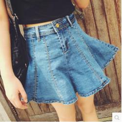 SKIRT  JEANS  กระโปรงแฟชั่น Korea  miniskirt , dinim  color  jeans  fashion