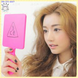 ( Pink )SQUARE Hand Mirror